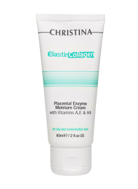 ElastinCollagen Placental Enzyme Moisture Cream with vitamins A, E & HA for oily and combination skin 60 мл