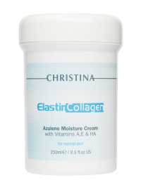 ElastinCollagen Azulene Moisture Cream with Vitamins A, E & HA for normal skin 250 мл