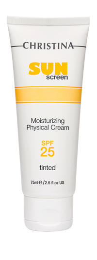 Sunscreen Moisturizing Cream physical tinted SPF-25