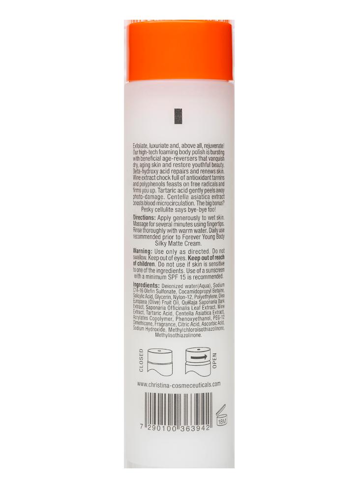 Forever Young Exfoliating ScrubForever Young<br>Отшелушивает поверхностные слои кожи тела, увлажняет кожу и улучшает микроциркуляцию.<br>